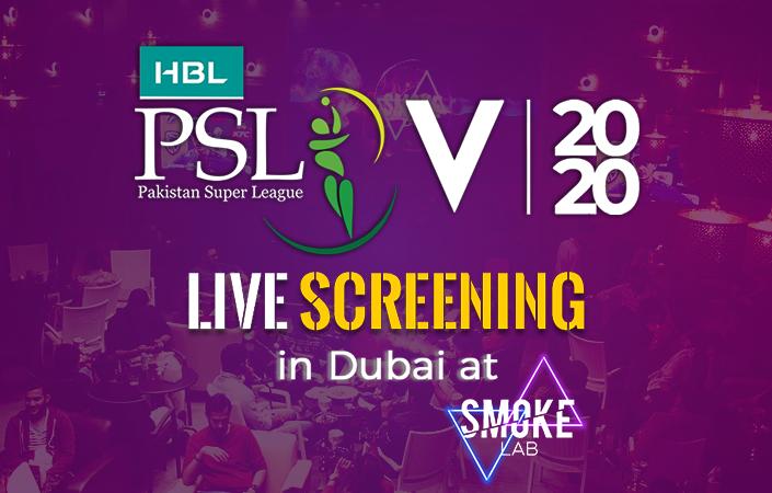 PSL 5 Live screening in Dubai